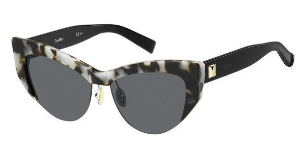 Max Mara Damen Sonnenbrille » MM LINA I«, weiß, BOA/IR - weiß/grau
