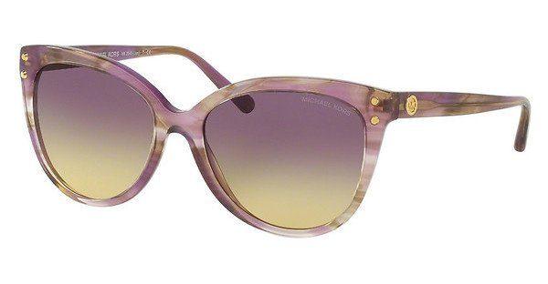 MICHAEL KORS Michael Kors Damen Sonnenbrille »JAN MK2045«, braun, 3006T5 - braun/braun