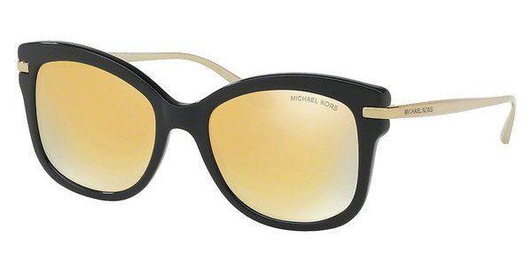 MICHAEL KORS Michael Kors Damen Sonnenbrille »LIA MK2047«, schwarz, 31607P - schwarz/ gold