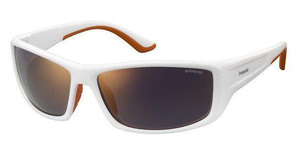 Polaroid Herren Sonnenbrille » PLD 7013/S«, weiß, IXN/OZ - weiß/rot