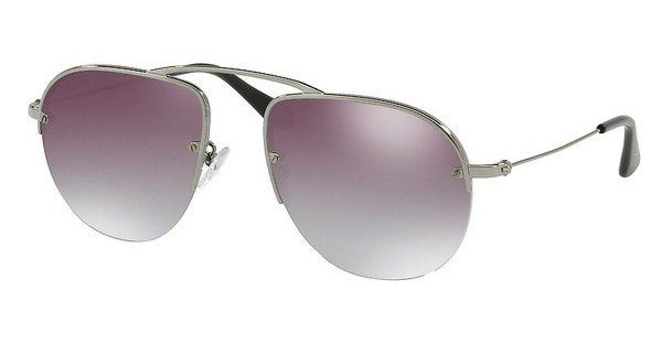 PRADA Prada Herren Sonnenbrille »TEDDY PR 58OS«, grau, 5AV1V1 - grau/blau