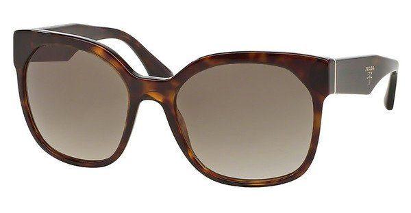 PRADA Prada Damen Sonnenbrille »VOICE PR 10RSF«, braun, 2AU3D0 - braun/grau