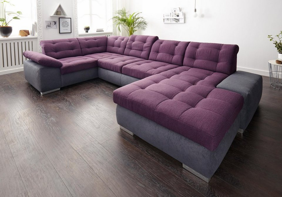 sit more wohnlandschaft xxl wahlweise mit bettfunktion. Black Bedroom Furniture Sets. Home Design Ideas