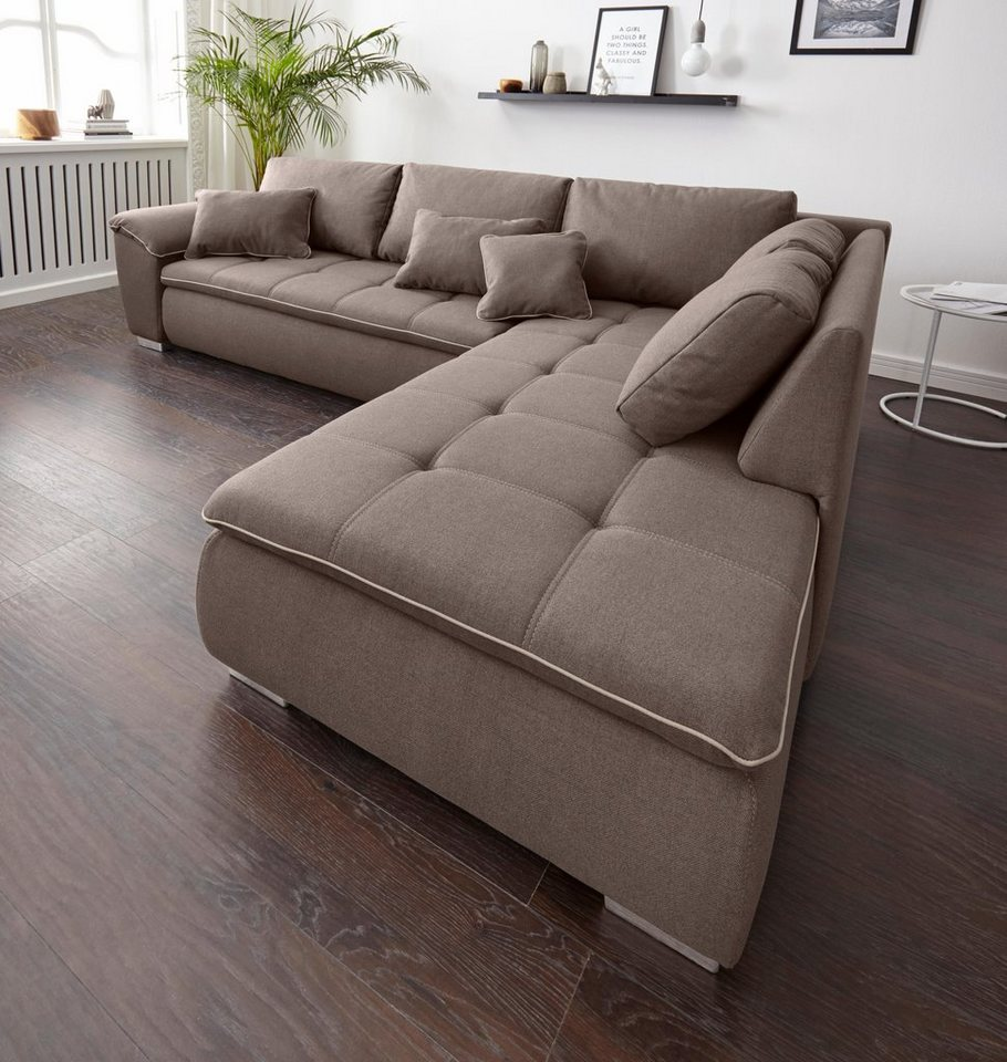 Polsterecke mit bettfunktion und bettkasten otto for Funktions ecksofa mit bettkasten