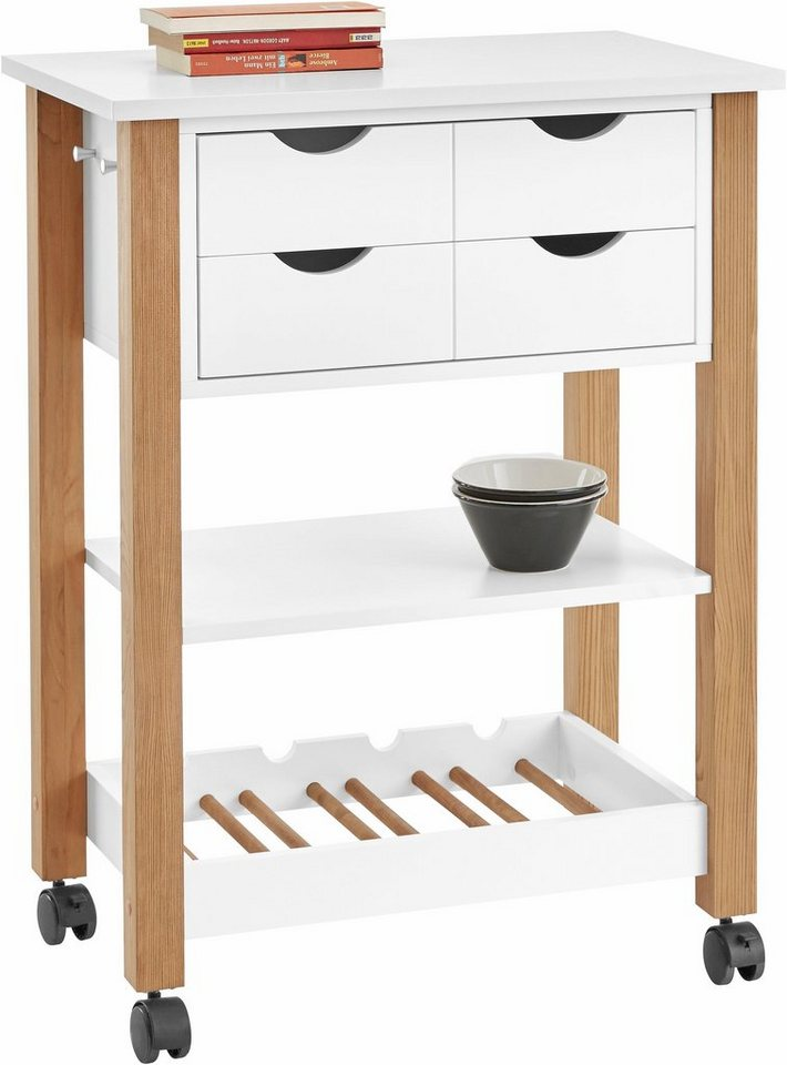home affaire k chenwagen mit 2 schubladen breite 64 cm. Black Bedroom Furniture Sets. Home Design Ideas