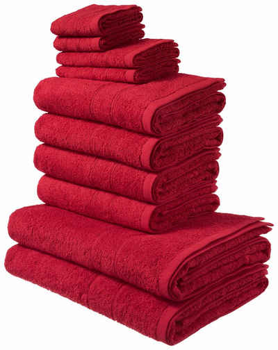 Handtuch Set In Rot Online Kaufen Otto