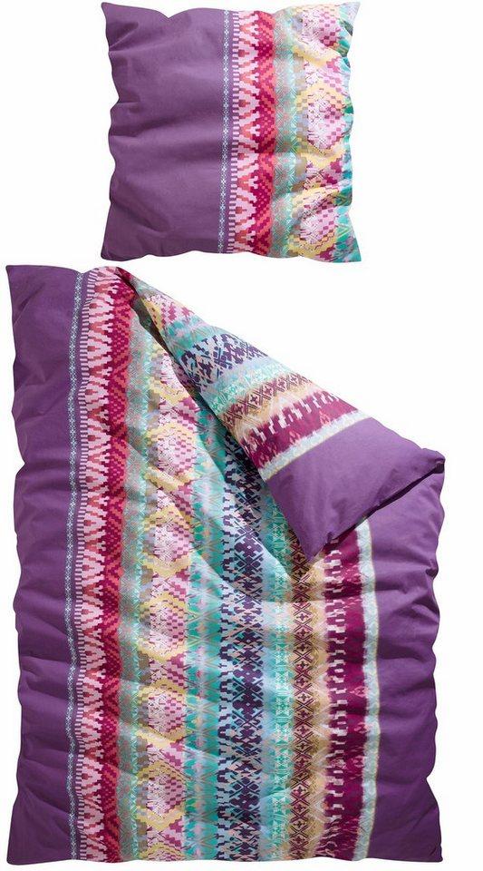 bettw sche indio casatex mit buntem zick zack muster online kaufen otto. Black Bedroom Furniture Sets. Home Design Ideas