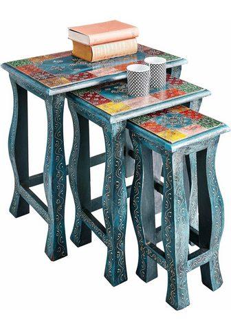 HOME AFFAIRE Pristatomas stalas (Rinkinys 3 vieneta...