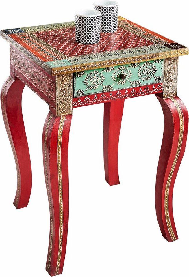 home affaire beistelltisch handgearbeitet und handbemalt online kaufen otto. Black Bedroom Furniture Sets. Home Design Ideas