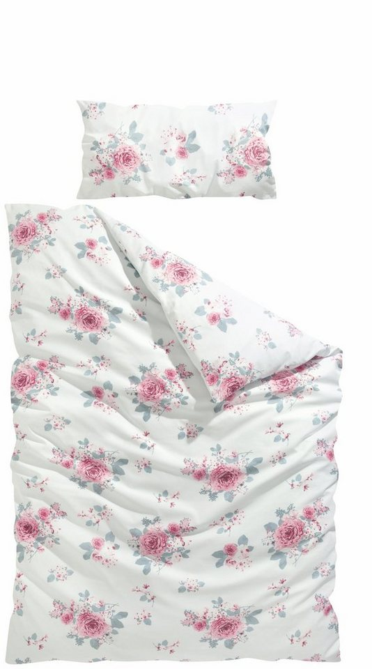 Bettwäsche »Rose«, Home affaire Collection, mit Blumendruck online ...