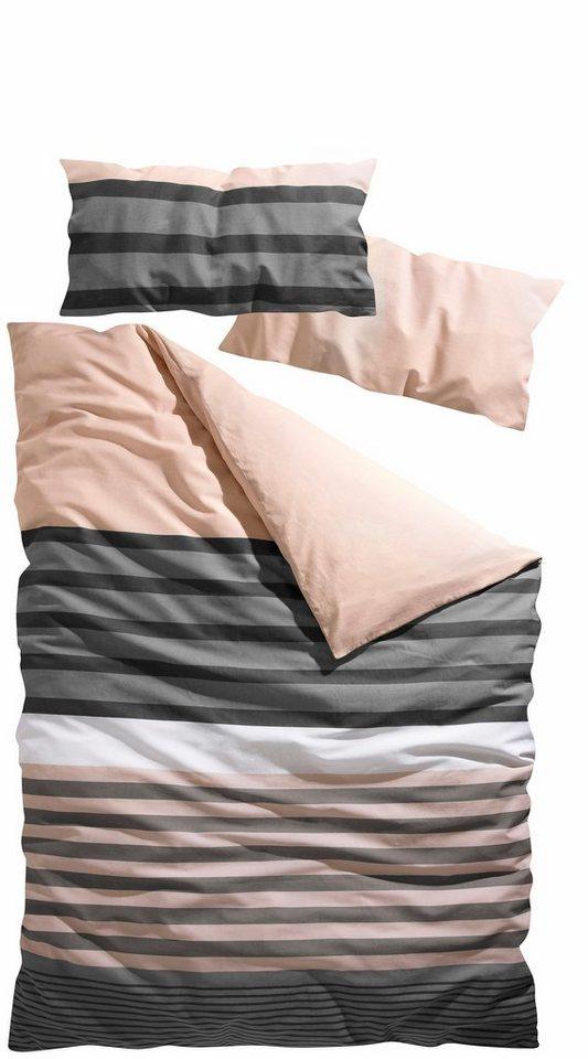 bettw sche h i s majoran mit streifen kaufen otto. Black Bedroom Furniture Sets. Home Design Ideas