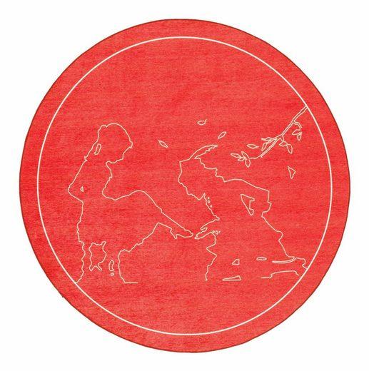 Kinderteppich »Märchen 5«, grimmliis, rund, Höhe 2 mm, Motiv Aschenputtel