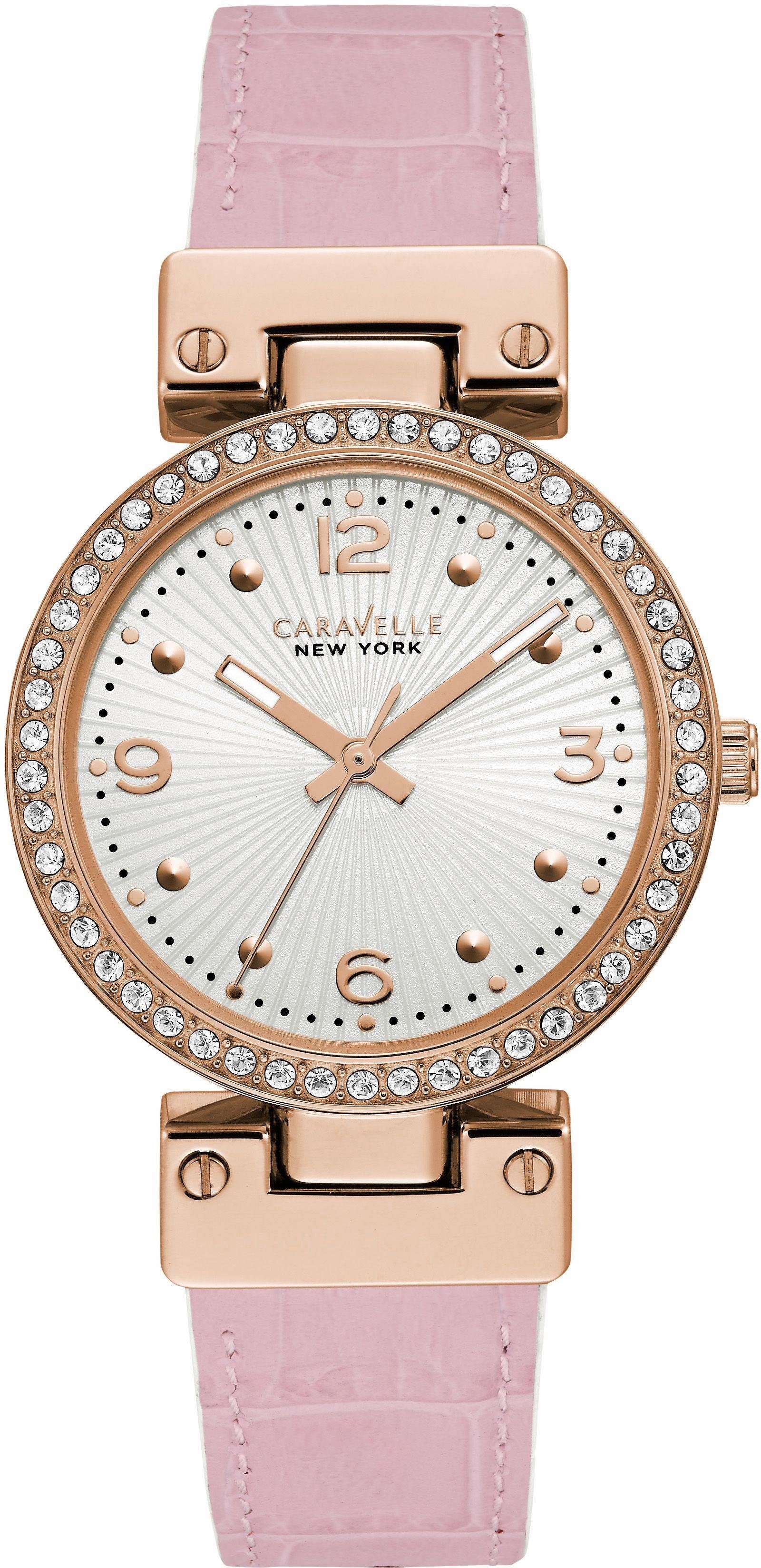 Caravelle New York Quarzuhr »Blushing Beauty, 44L232«, mit Wendeband