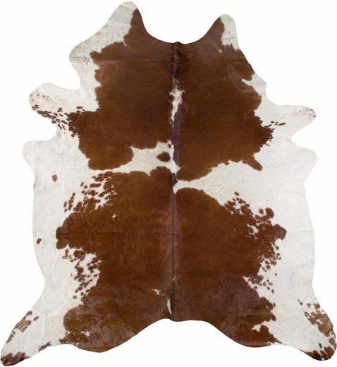 Fellteppich »Rinderfell 5«, LUXOR living, tierfellförmig, Höhe 3 mm, echtes Rinderfell