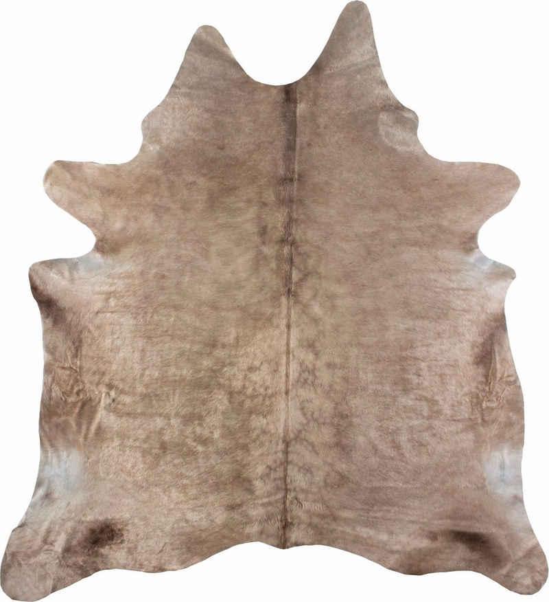 Fellteppich »Rinderfell 3«, LUXOR living, fellförmig, Höhe 3 mm, echtes Rinderfell, Naturprodukt daher ist jedes Rinderfell ein Einzelstück, Wohnzimmer