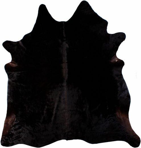 Fellteppich »Rinderfell 1«, LUXOR living, tierfellförmig, Höhe 3 mm, echtes Rinderfell