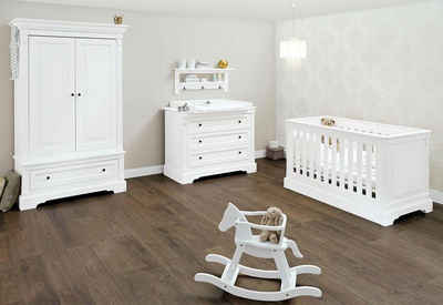 Pinolino® Babyzimmer-Komplettset »Emilia«, (Set, 3-St), breit; mit Kinderbett, Schrank und Wickelkommode