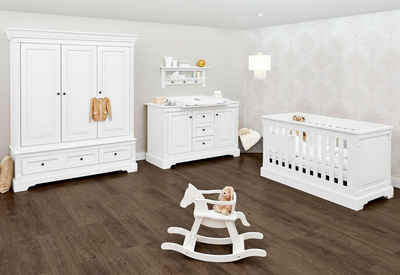 Pinolino® Babyzimmer-Komplettset »Emilia«, (Set, 3-St), extrabreit groß; mit Kinderbett, Schrank und Wickelkommode