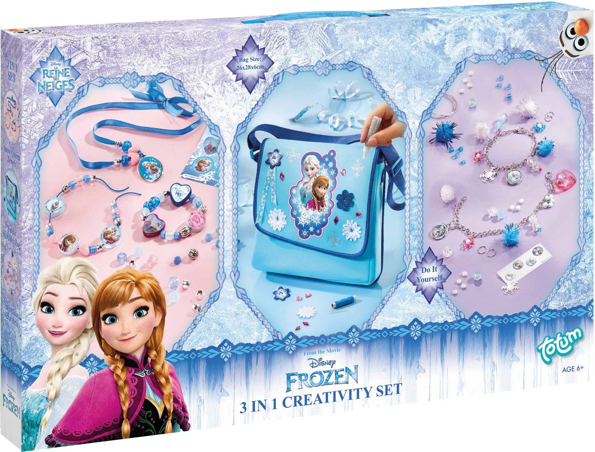 totum Bastelset Tasche und Armbänder, »Disney Frozen 3 in 1 Kreativset«