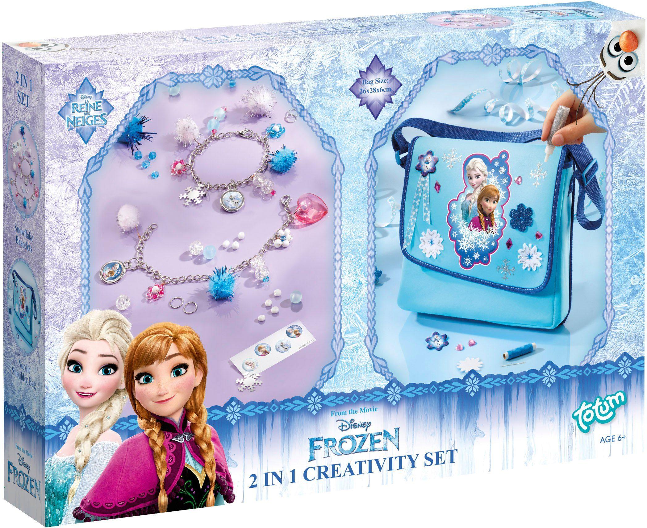 totum Kreativset Tasche und Armbänder, »Disney Frozen 2 in 1 Schmuck + Tasche«