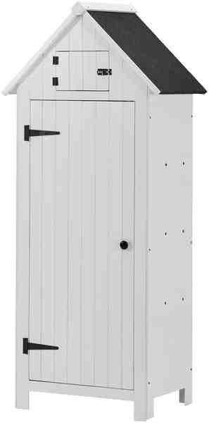KONIFERA Geräteschrank »WS 770 C«, BxTxH: 77x54,3x179 cm, weiß lasiert