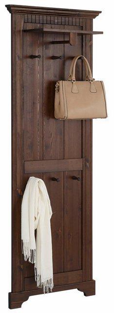 Garderobenleisten und Haken - Home affaire Garderobenpaneel »Rustic«, aus massiver Kiefer, 64 cm breit  - Onlineshop OTTO