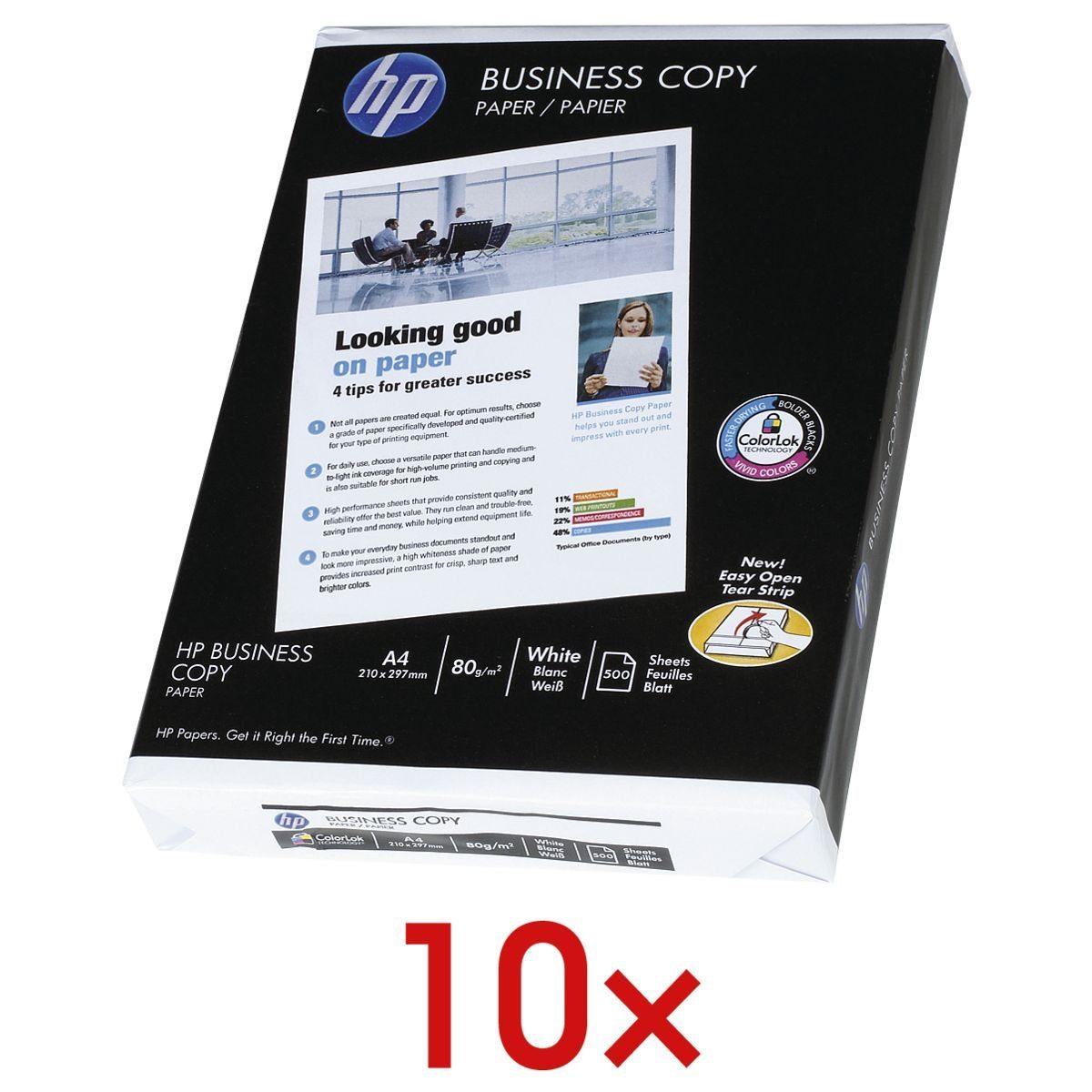 HP 10x Kopierpapier »Business Copy« 1 Set