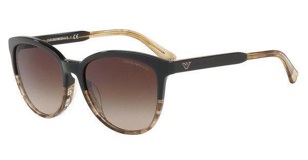 Emporio Armani EA4101 Sonnenbrille Braun / Beige 556713 56mm oLTx1oe