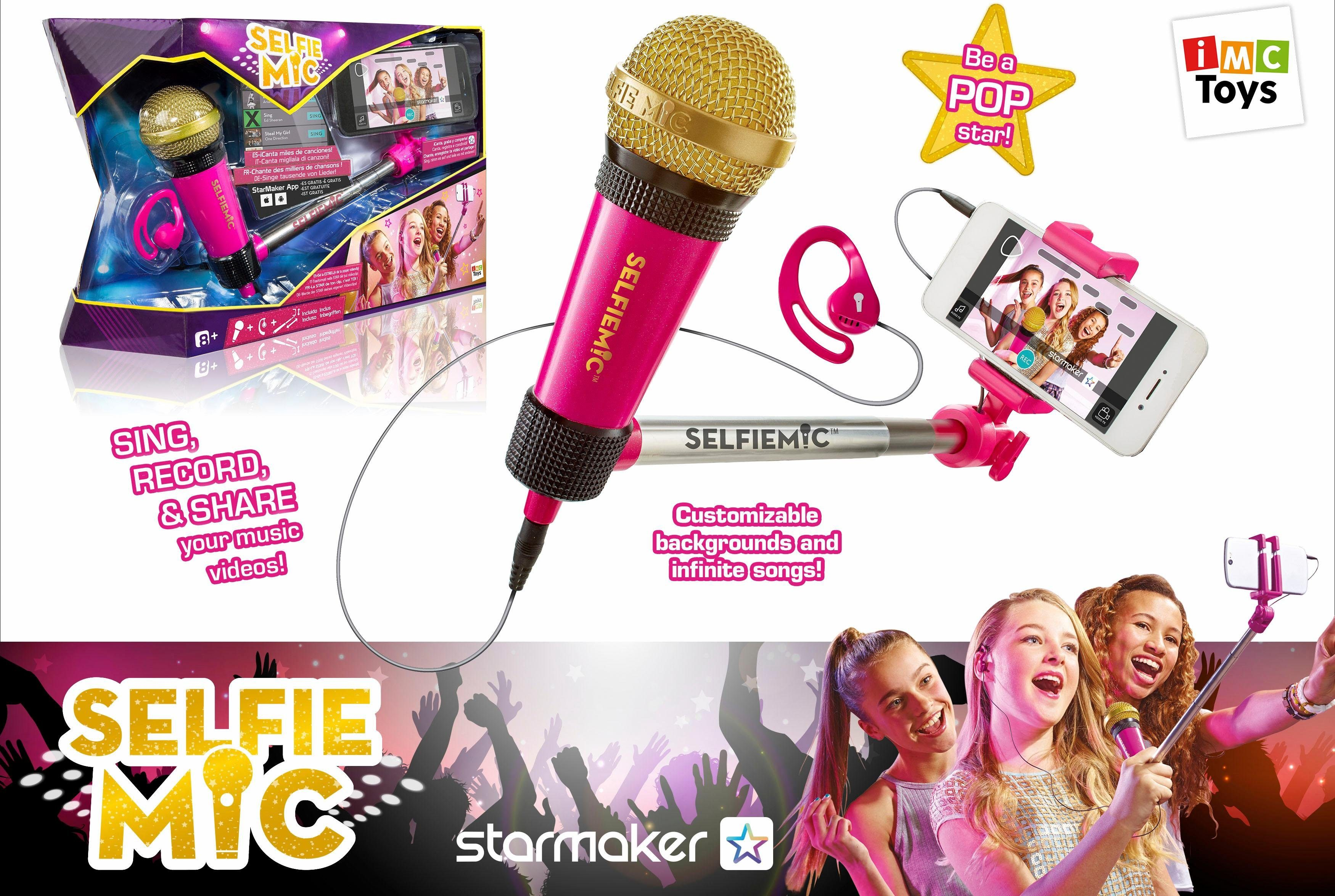 IMC Toys Mikrofon und Selfiestick, »Selfie MIC Pink«