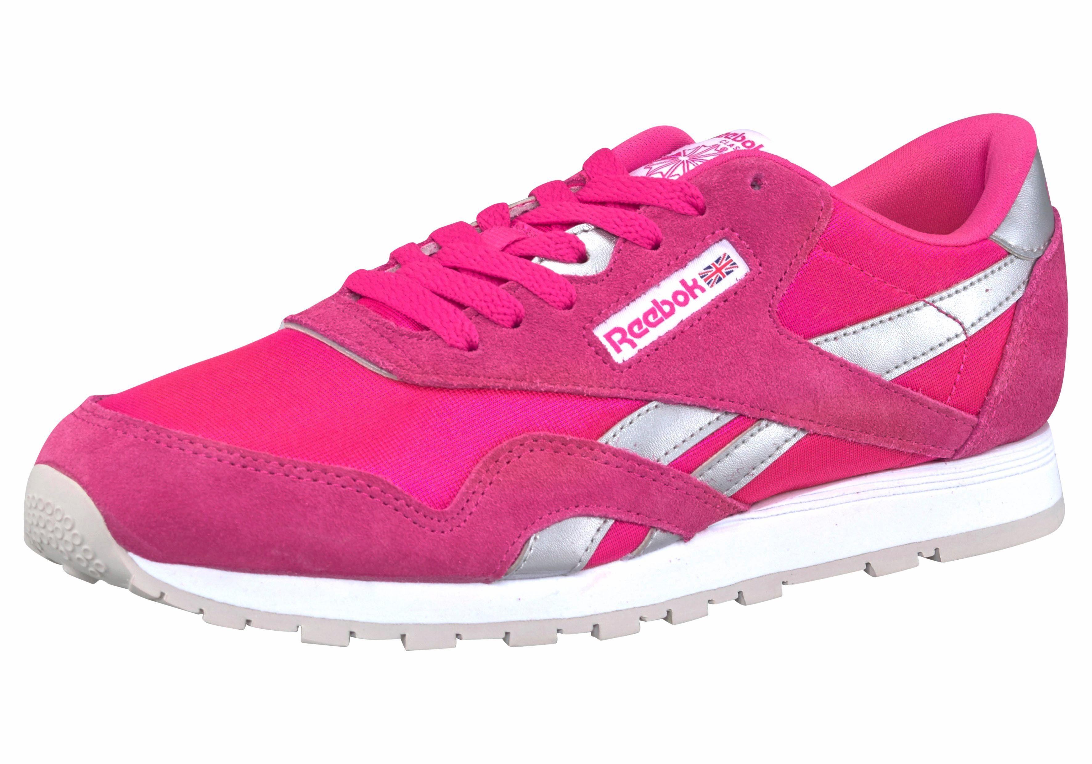 Reebok Classic »Nylon« Sneaker, rosa, pink-silberfarben