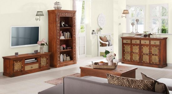 Home affaire Standregal »Marco«, mit dekorativen Fräsungen, Höhe 180 cm