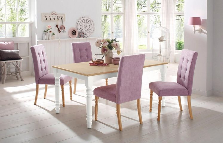Home affaire Tisch »Cisa«, mit gedrechselten Beinen aus massiver Buche