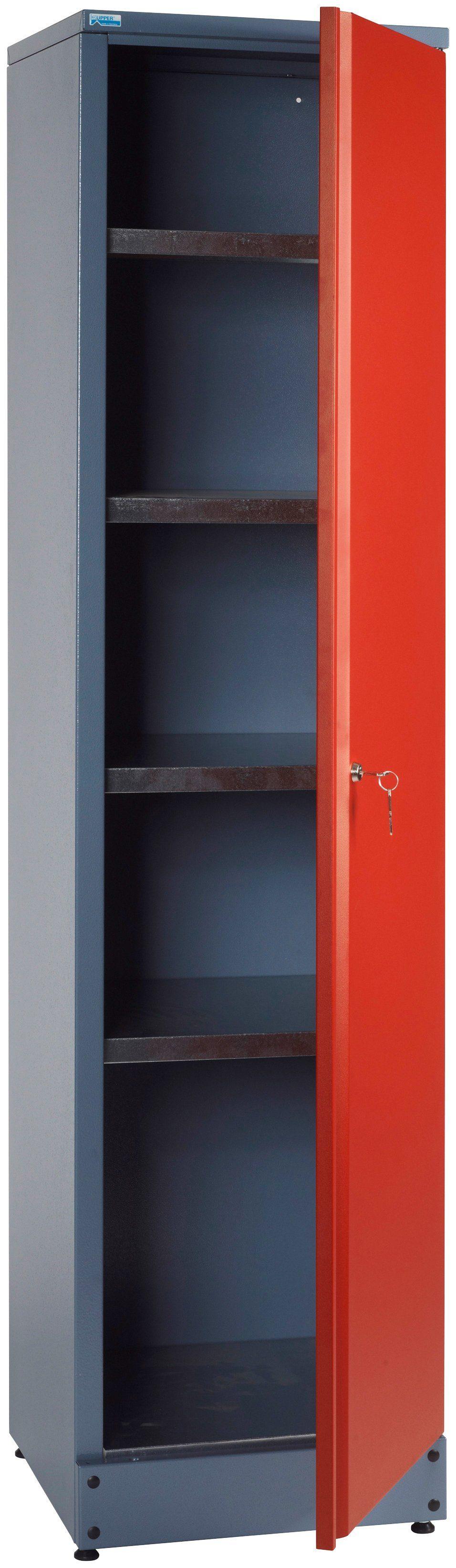 Küpper Hochschrank »1 Tür, 4 Einlegeböden, in rot«
