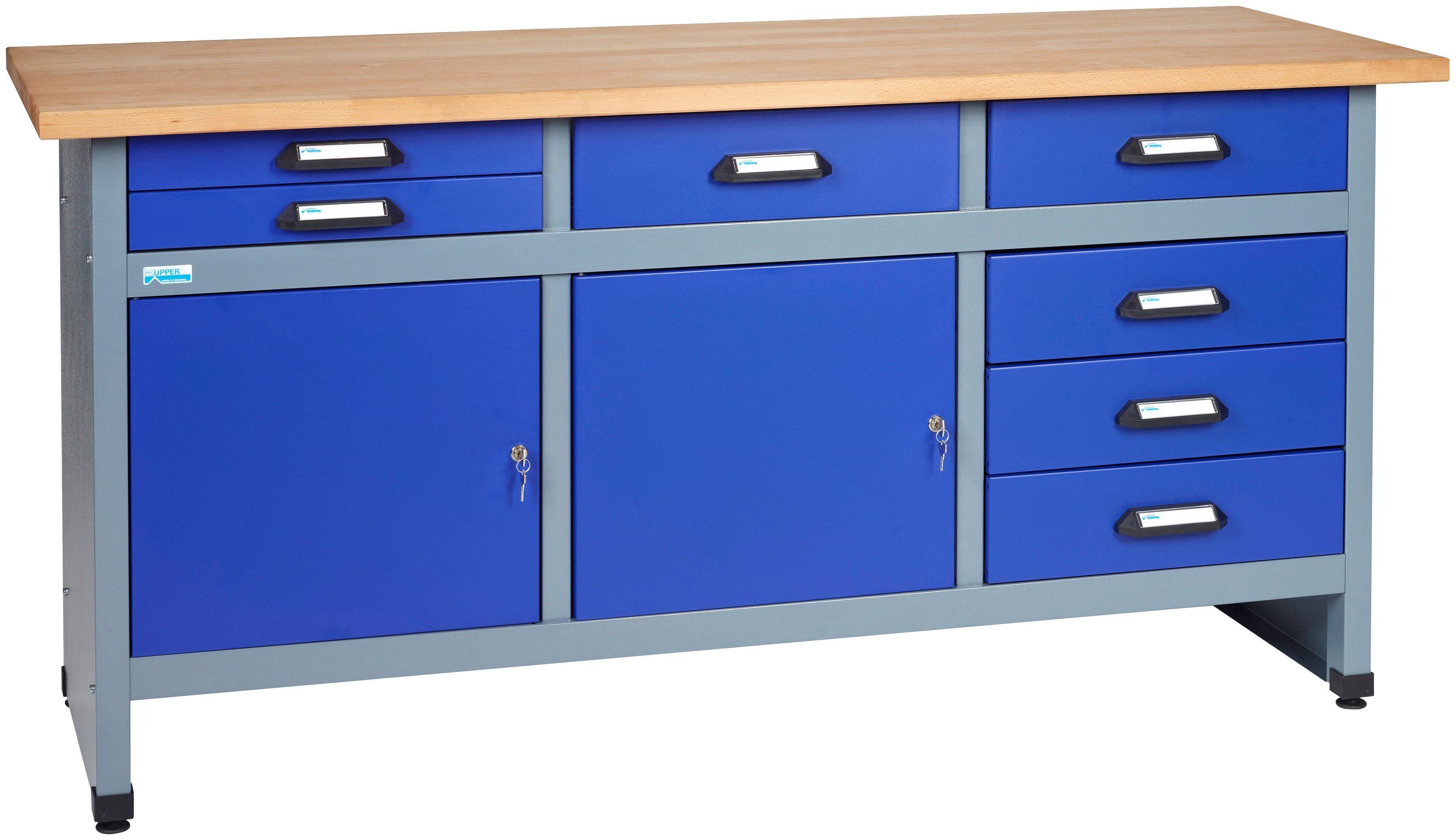 KÜPPER Werkbank »2 Türen, 7 Schubladen, in ultramarinblau«