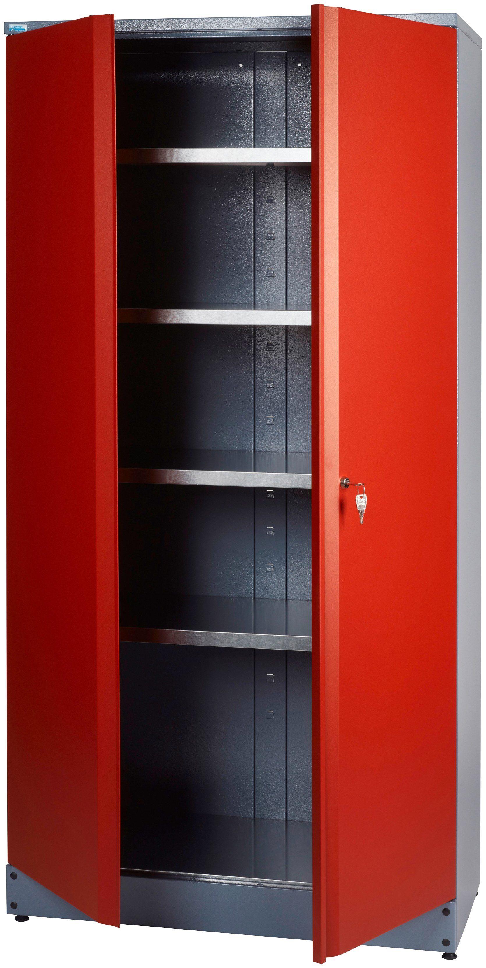 KÜPPER Hochschrank »2 Türen, 4 Einlegeböden, in rot«