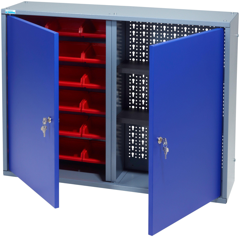 KÜPPER Hängeschrank »2 Türen, 2 Einlegeböden, 18 Sichtboxen, in ultramarinblau«