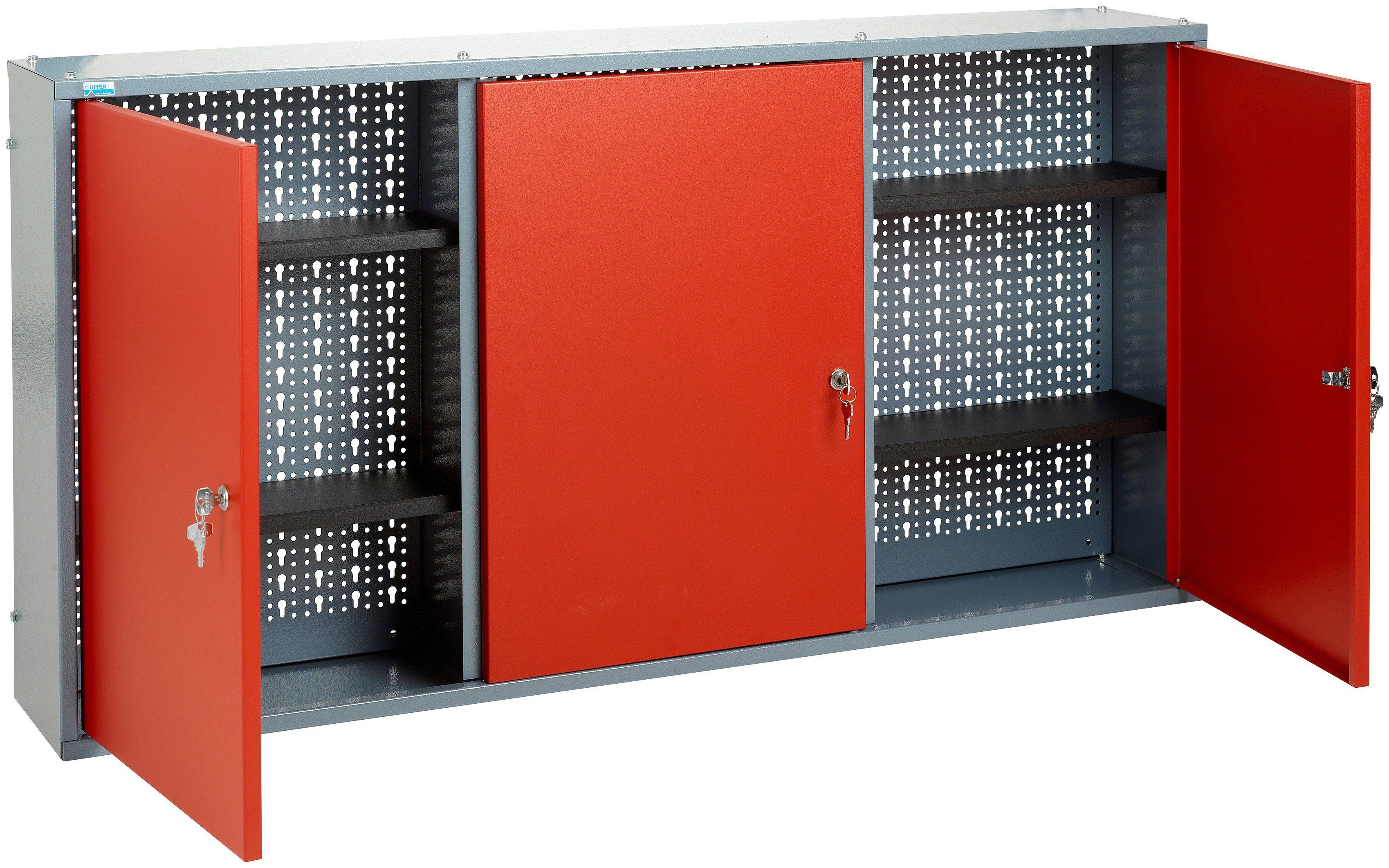 KÜPPER Hängeschrank »3 Türen, 4 Einlegeböden, in rot«