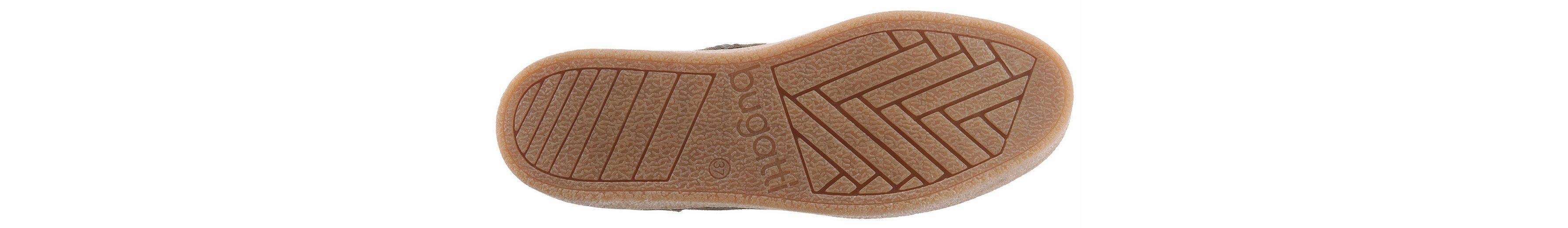 Bugatti Schnürstiefelette, mit Fellimitat Besatz