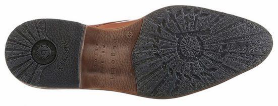 Bugatti Schnürschuh, mit kontrastfarbenen Details
