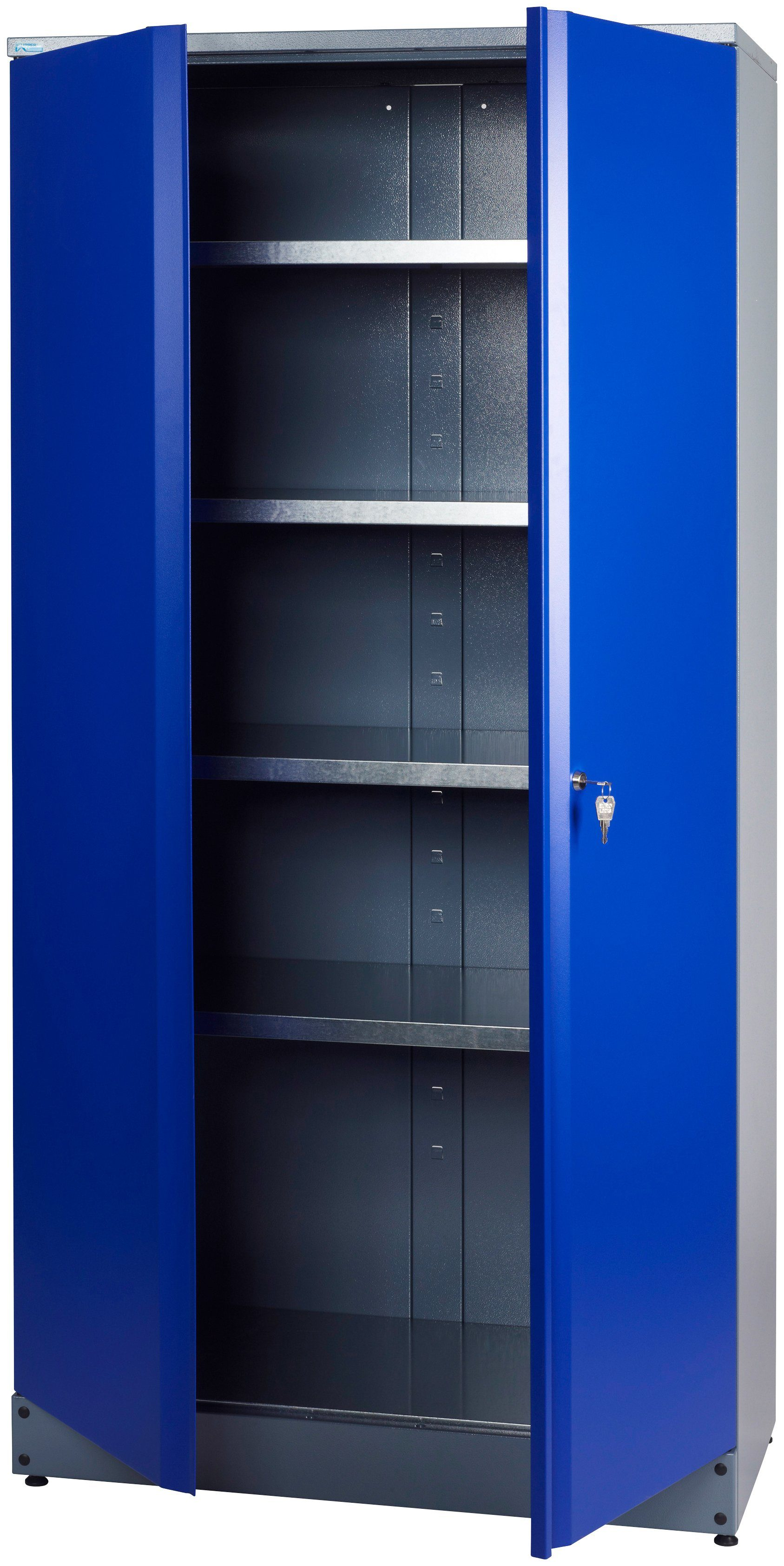 Küpper Hochschrank mit 2 Türen, 4 Einlegeböden, in ultramarinblau