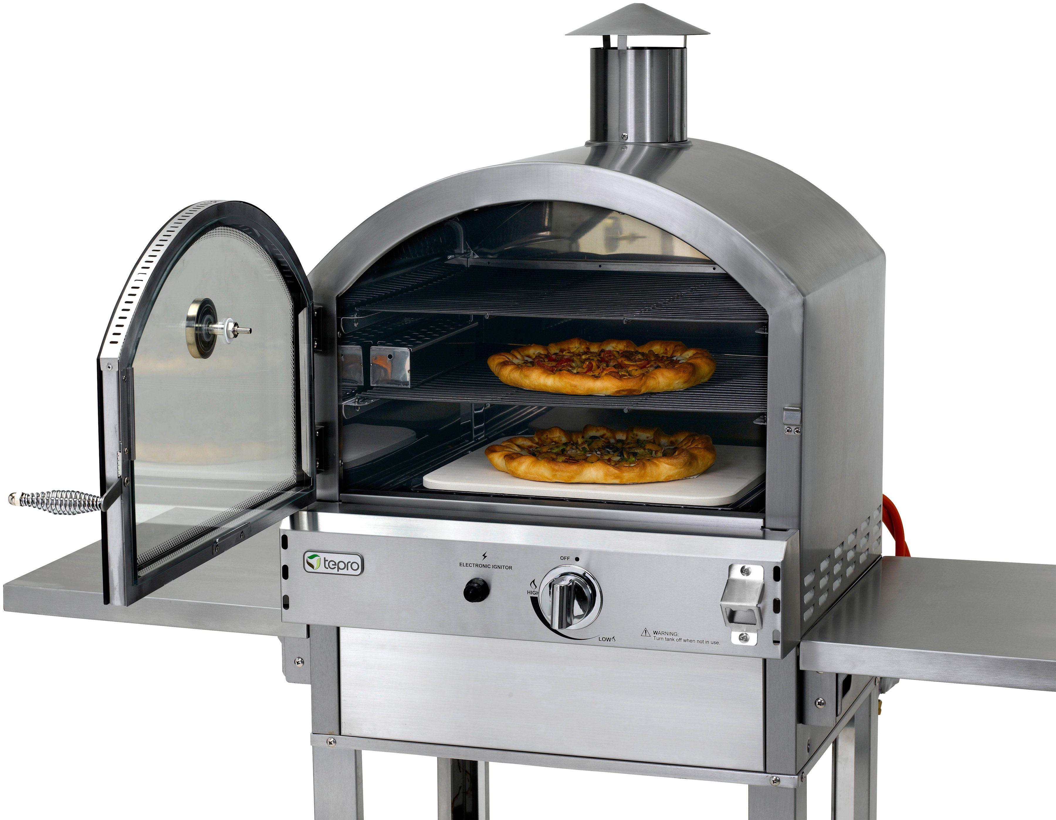 TEPRO Gasgrill »Pizzaofen Santa Fe«, B/T/H: 139/64,8/142 cm