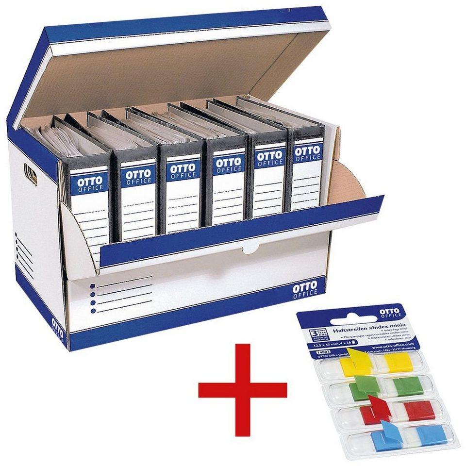 otto office standard ordner container inkl haftstreifen mini 1 set online kaufen otto. Black Bedroom Furniture Sets. Home Design Ideas