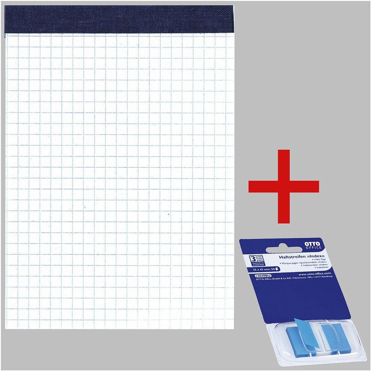 OTTO Office Standard 10er-Pack Notizblöcke inkl. Haftstreifen 1 Set