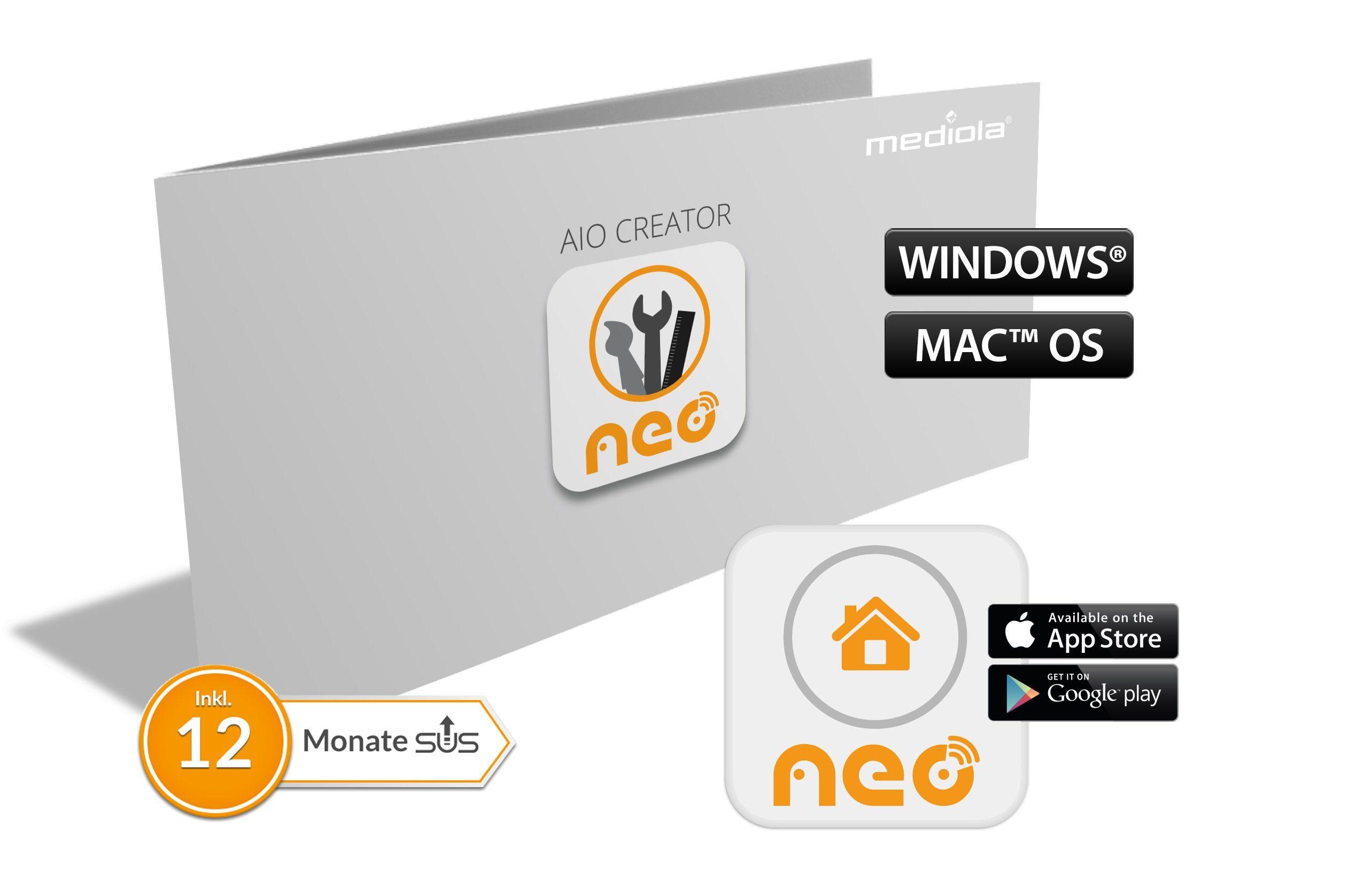 Mediola Smart Home - Steuerung & Komfort »AIO Creator NEO mediola® Edition«