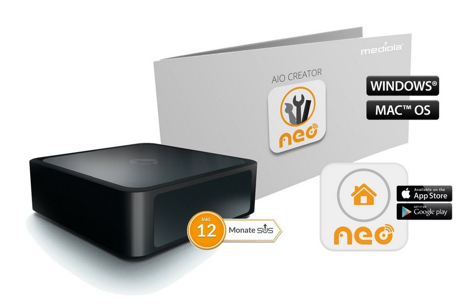 mediola smart home steuerung komfort set aio gateway v5 inkl creator neo plugin online. Black Bedroom Furniture Sets. Home Design Ideas