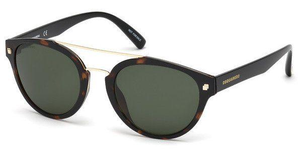 Dsquared2 Sonnenbrille » DQ0255«, braun, 52N - braun/grün