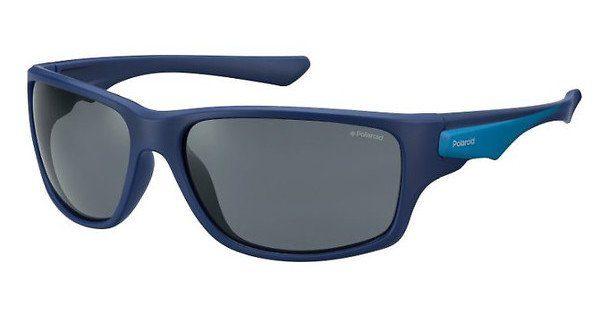 Polaroid Herren Sonnenbrille » PLD 7012/S«, blau, ZX9/C3 - blau/blau