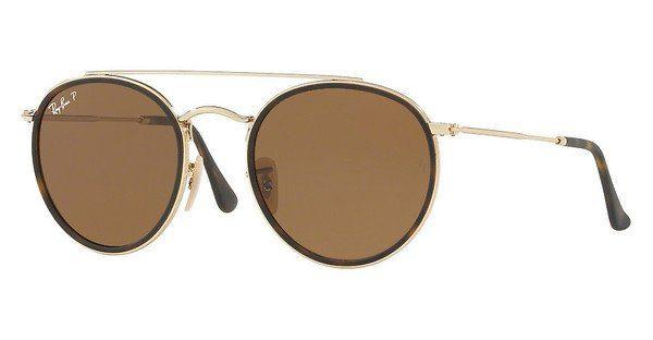 RAY BAN RAY-BAN Damen Sonnenbrille » RB3647N«, rosa, 9069A5 - rosa/ braun