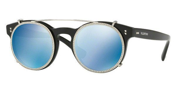 Valentino Damen Sonnenbrille » VA4009CB«, schwarz, 500155 - schwarz/blau