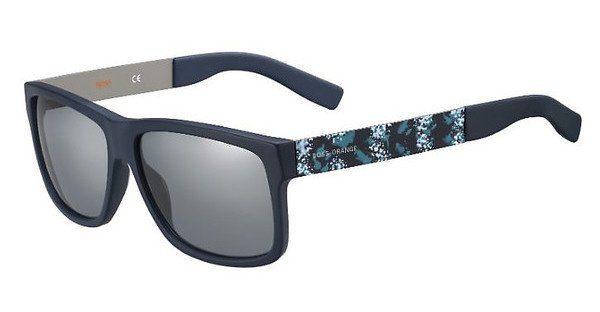 Boss Orange Herren Sonnenbrille » BO 0196/S«, blau, JX5/T4 - blau/grau